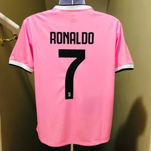 new product 69938 26686 2019-20 Retro Pink Juventus RONALDO Soccer Jersey NWT